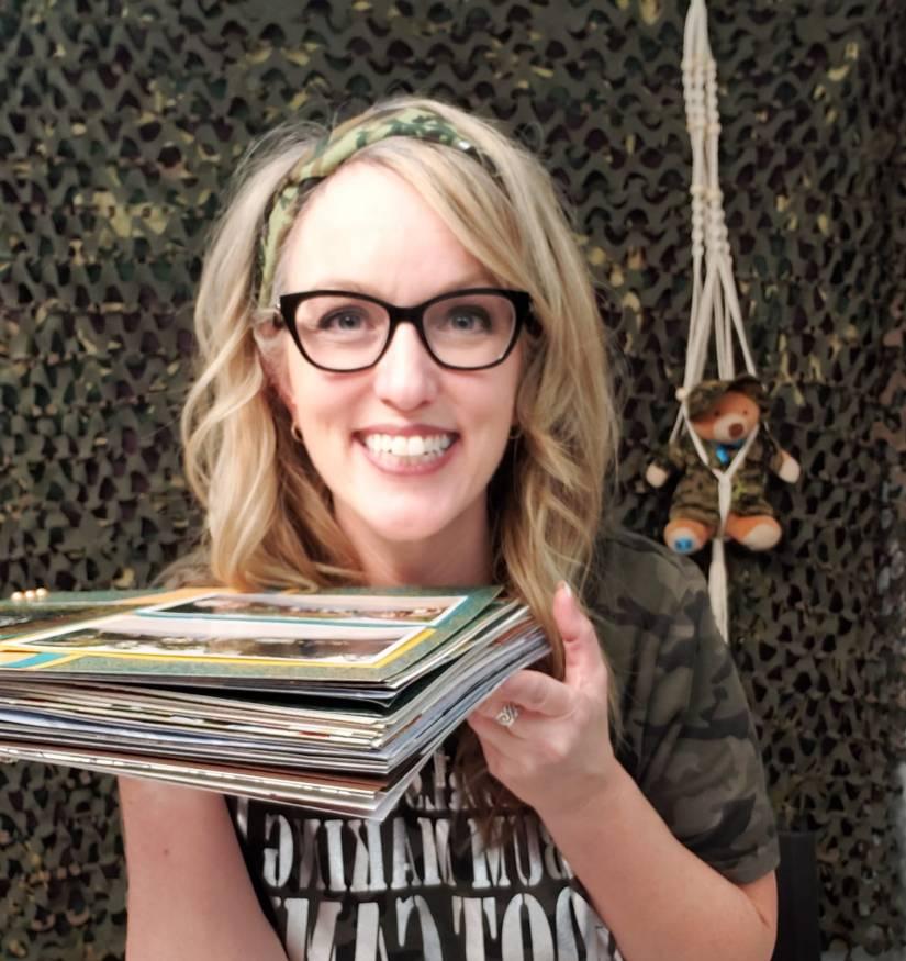 Tammy McEwen Crop Girls Album Making Boot Camp Scrapbooking